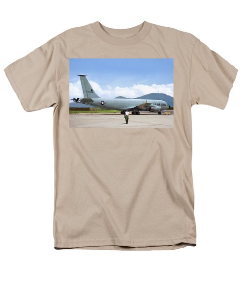 Men's T-Shirt  (Regular Fit) featuring the digital art My Baby Kc-135 by Peter Chilelli