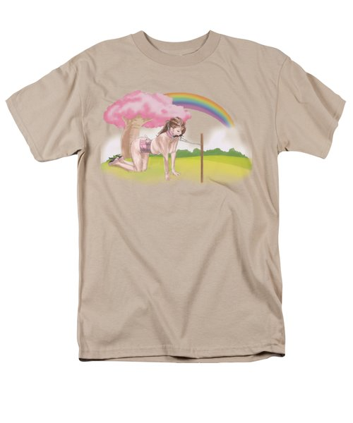 Men's T-Shirt  (Regular Fit) featuring the mixed media My Little Pony by TortureLord Art
