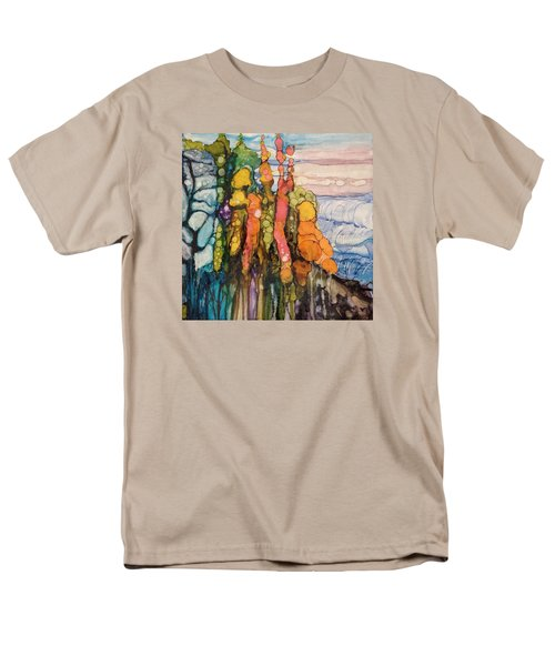 Men's T-Shirt  (Regular Fit) featuring the painting Mystical Garden by Suzanne Canner