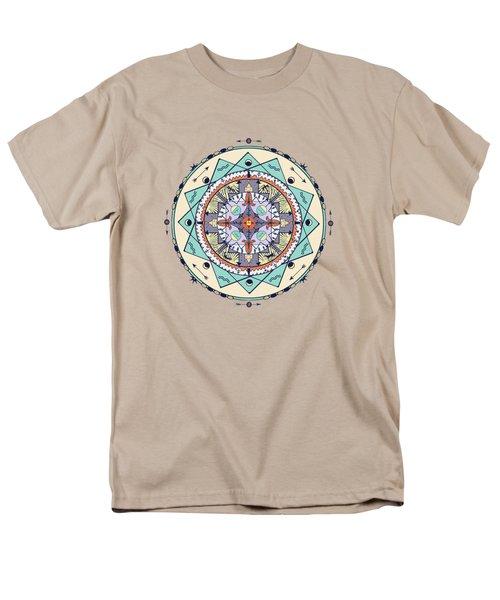 Native Symbols Mandala Men's T-Shirt  (Regular Fit) by Deborah Smith