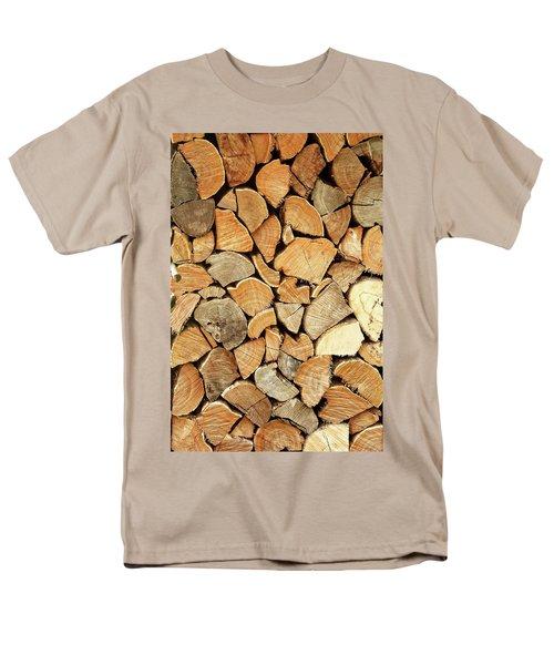 Natural Wood Men's T-Shirt  (Regular Fit)