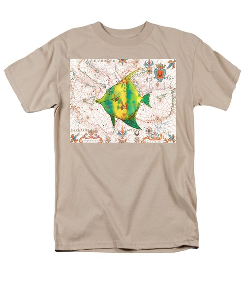 Men's T-Shirt  (Regular Fit) featuring the painting Nautical Treasures-p by Jean Plout