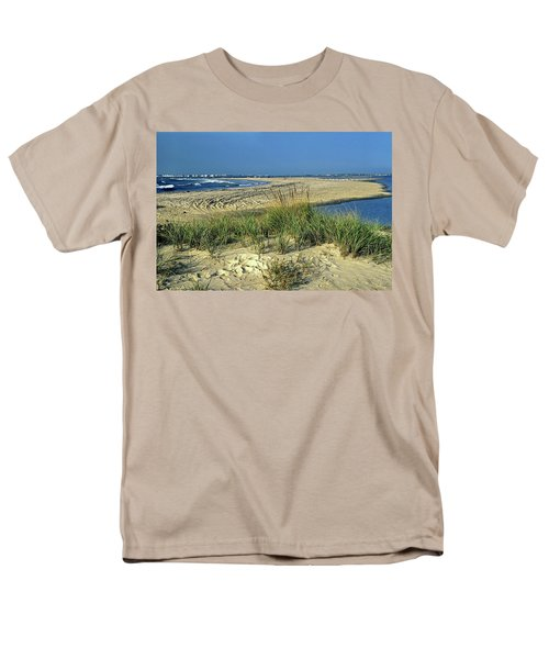 New Jersey Inlet  Men's T-Shirt  (Regular Fit) by Sally Weigand