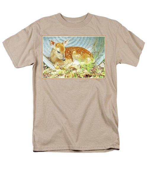Newborn Fawn Takes Shelter In An Old Washtub II Men's T-Shirt  (Regular Fit) by A Gurmankin