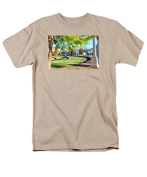 Men's T-Shirt  (Regular Fit) featuring the photograph Newnan Park Ampitheatre by Roberta Byram