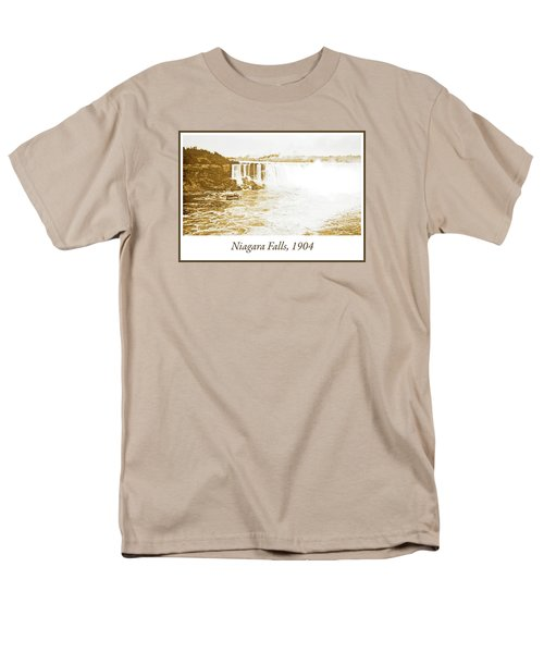 Men's T-Shirt  (Regular Fit) featuring the photograph Niagara Falls Ferry Boat 1904 Vintage Photograph by A Gurmankin