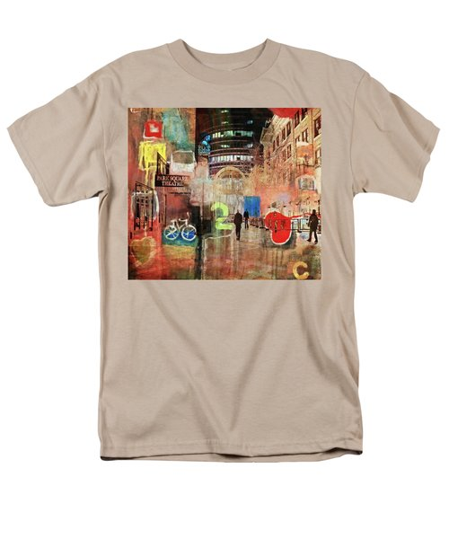 Men's T-Shirt  (Regular Fit) featuring the photograph Night In The City by Susan Stone
