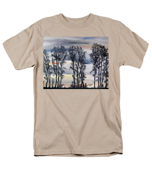 Men's T-Shirt  (Regular Fit) featuring the painting Nightfall Approaching by Marilyn  McNish