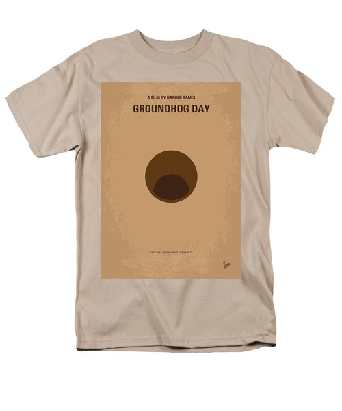 No031 My Groundhog Minimal Movie Poster Men's T-Shirt  (Regular Fit) by Chungkong Art
