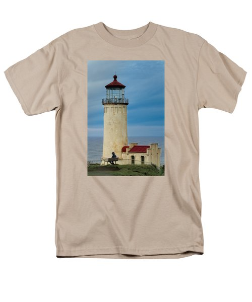 North Head Lighthouse Men's T-Shirt  (Regular Fit) by E Faithe Lester