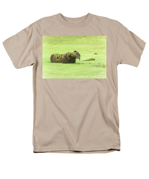Men's T-Shirt  (Regular Fit) featuring the photograph Nutria In A Pesto Sauce by Robert Frederick
