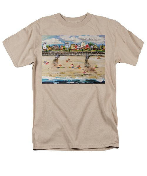 Men's T-Shirt  (Regular Fit) featuring the painting Ocean Ave By John Williams by John Williams