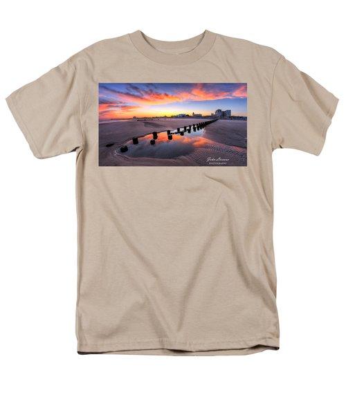 Ocean City Afterglow Men's T-Shirt  (Regular Fit) by John Loreaux