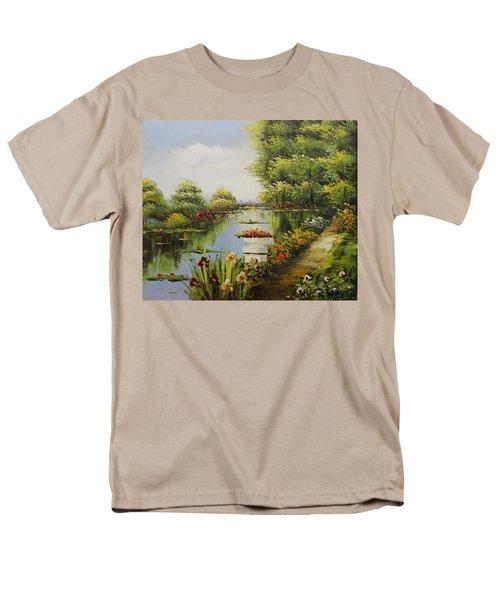 Oil Msc 038 Men's T-Shirt  (Regular Fit) by Mario Sergio Calzi