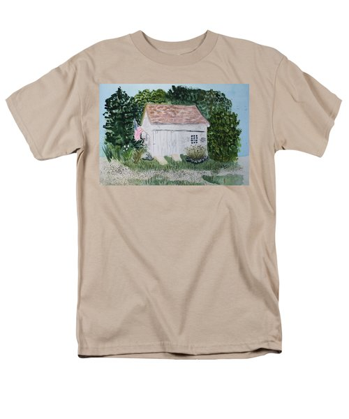 Men's T-Shirt  (Regular Fit) featuring the painting Old Barn In Eastham Ma by Donna Walsh