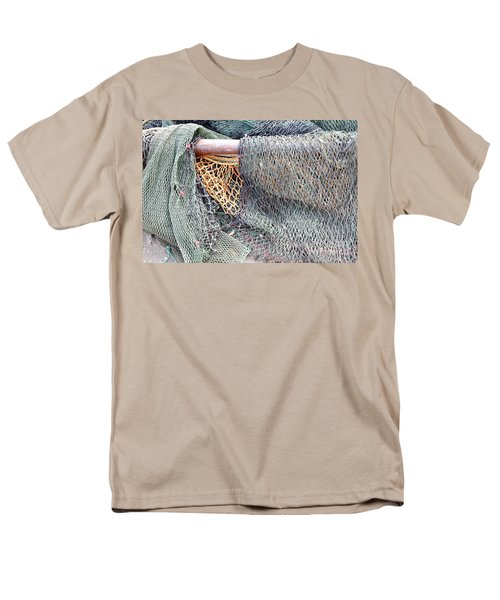 Men's T-Shirt  (Regular Fit) featuring the photograph Old Discarded Fishing Nets by Yali Shi