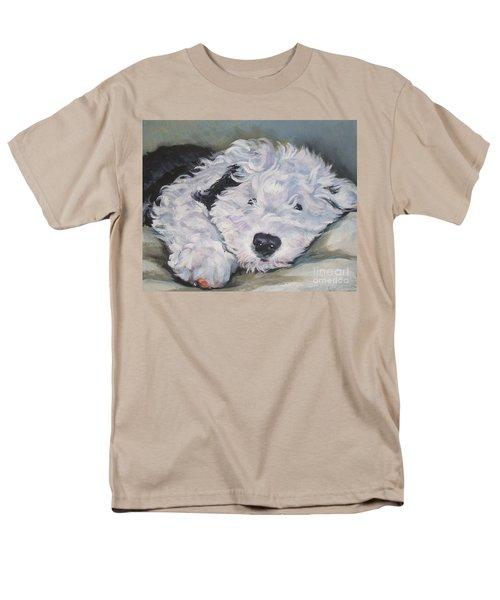 Old English Sheepdog Pup Men's T-Shirt  (Regular Fit) by Lee Ann Shepard