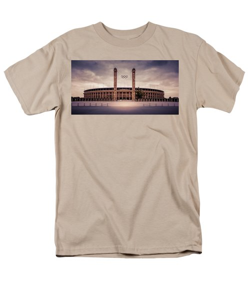 Olympic Stadium Berlin Men's T-Shirt  (Regular Fit) by Stavros Argyropoulos