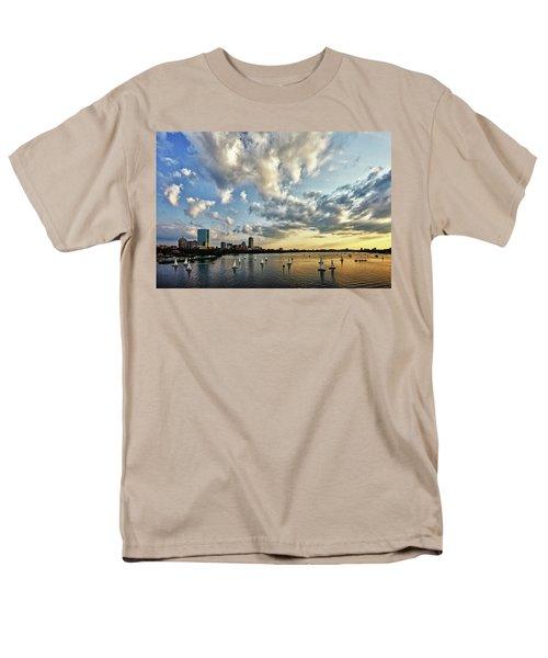 On The Charles II Men's T-Shirt  (Regular Fit) by Rick Berk