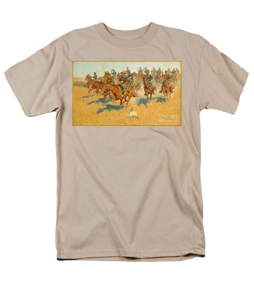 Men's T-Shirt  (Regular Fit) featuring the photograph On The Southern Plains Frederic Remington by John Stephens