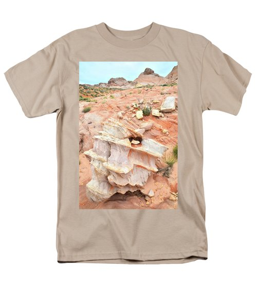Men's T-Shirt  (Regular Fit) featuring the photograph Ornate Rock In Wash 4 Of Valley Of Fire by Ray Mathis