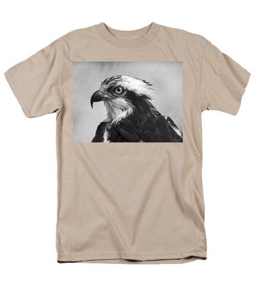 Osprey Monochrome Portrait Men's T-Shirt  (Regular Fit) by Chris Flees