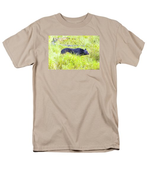 Out Standing In His Field Men's T-Shirt  (Regular Fit) by Harold Piskiel