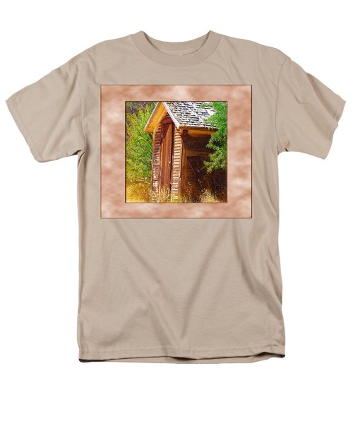 Men's T-Shirt  (Regular Fit) featuring the photograph Outhouse 1 by Susan Kinney
