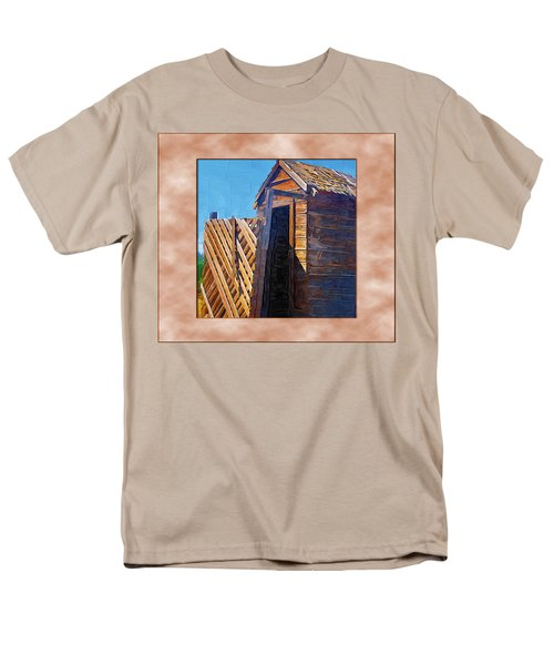 Men's T-Shirt  (Regular Fit) featuring the photograph Outhouse 2 by Susan Kinney
