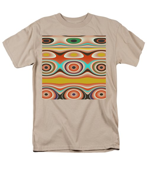 Ovals And Circles Pattern Design Men's T-Shirt  (Regular Fit) by Jessica Wright