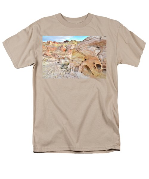 Overlooking Wash 5 In Valley Of Fire Men's T-Shirt  (Regular Fit) by Ray Mathis