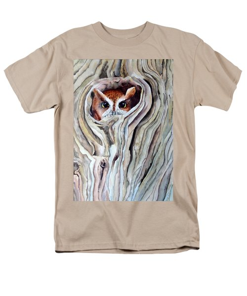 Men's T-Shirt  (Regular Fit) featuring the painting Owl by Laurel Best