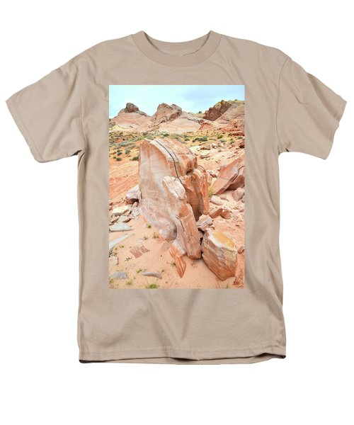 Men's T-Shirt  (Regular Fit) featuring the photograph Pages Of Stone In Valley Of Fire by Ray Mathis