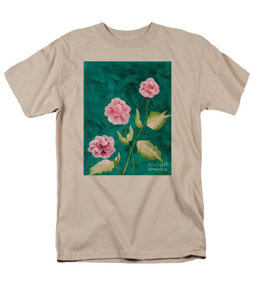 Painted Roses Men's T-Shirt  (Regular Fit) by Donna Brown