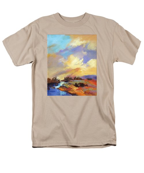 Men's T-Shirt  (Regular Fit) featuring the painting Painted Sky by Rae Andrews