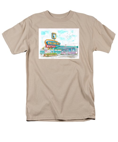 Palomino Motel In Route 66, Tucumcari, New Mexico Men's T-Shirt  (Regular Fit) by Carlos G Groppa