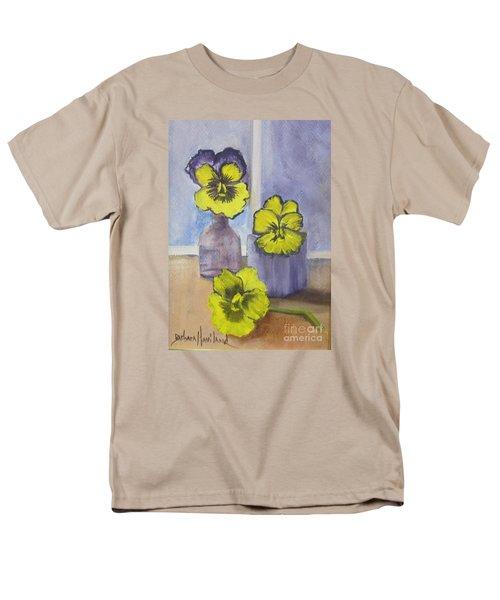 Pansies In Glass Men's T-Shirt  (Regular Fit)