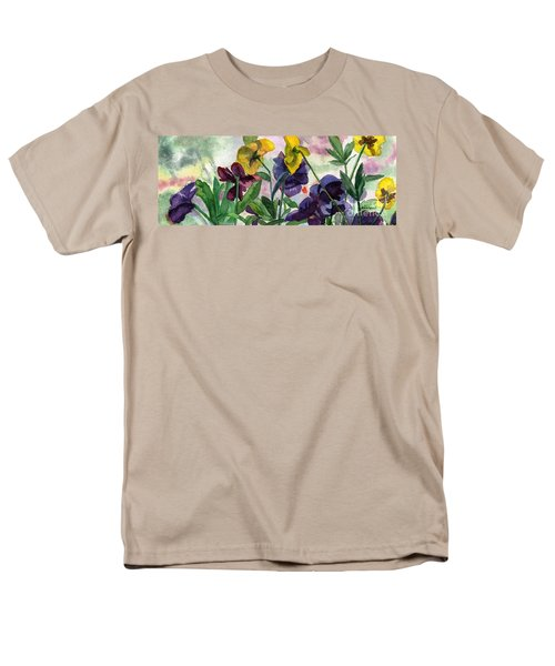 Pansy Field Men's T-Shirt  (Regular Fit) by Lynne Reichhart