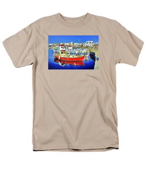 Men's T-Shirt  (Regular Fit) featuring the photograph Paros Fishing Boats by Dennis Cox WorldViews
