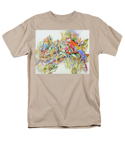 Parrots In Paradise Men's T-Shirt  (Regular Fit) by Mary Haley-Rocks