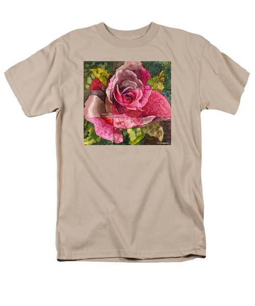 Men's T-Shirt  (Regular Fit) featuring the painting Partitioned Rose IIi by Anne Gifford