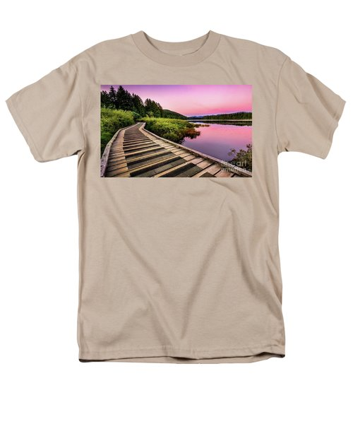 Path By The Lake Men's T-Shirt  (Regular Fit) by Rod Jellison