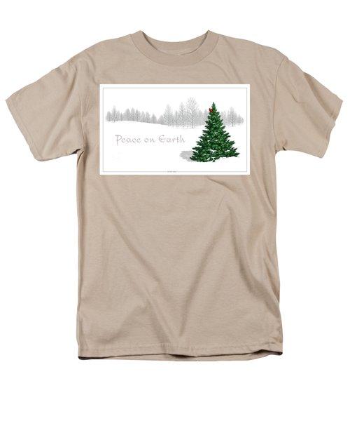 Men's T-Shirt  (Regular Fit) featuring the digital art Peace On Earth by Scott Ross