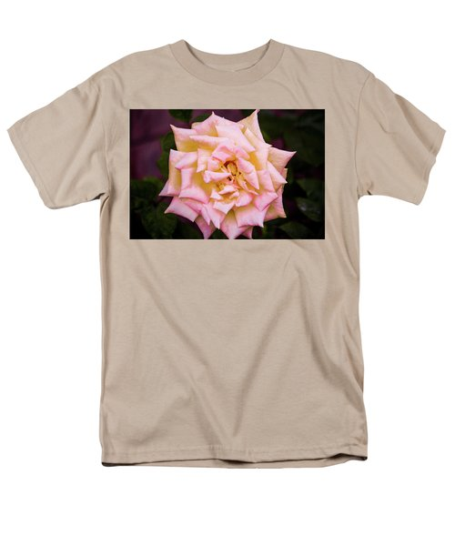 Men's T-Shirt  (Regular Fit) featuring the photograph Peace Rose by Donna G Smith