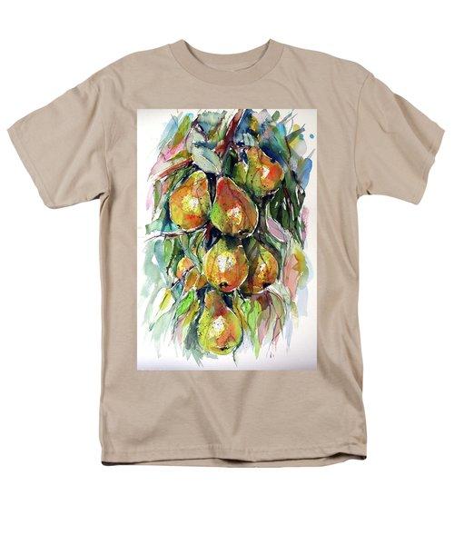 Men's T-Shirt  (Regular Fit) featuring the painting Pear by Kovacs Anna Brigitta