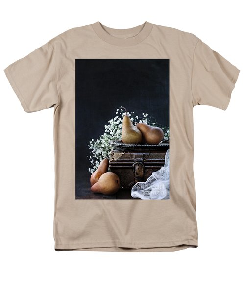 Men's T-Shirt  (Regular Fit) featuring the photograph Pears And Baby's Breath by Stephanie Frey