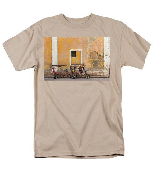 Pedicabs At Convento De Santa Clara Havana Cuba Men's T-Shirt  (Regular Fit) by Charles Harden