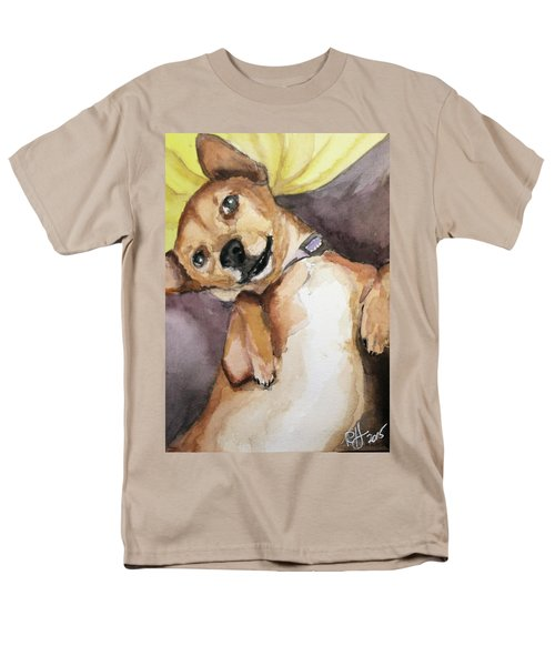 Men's T-Shirt  (Regular Fit) featuring the painting Pedro The Chi-weenie by Rachel Hames