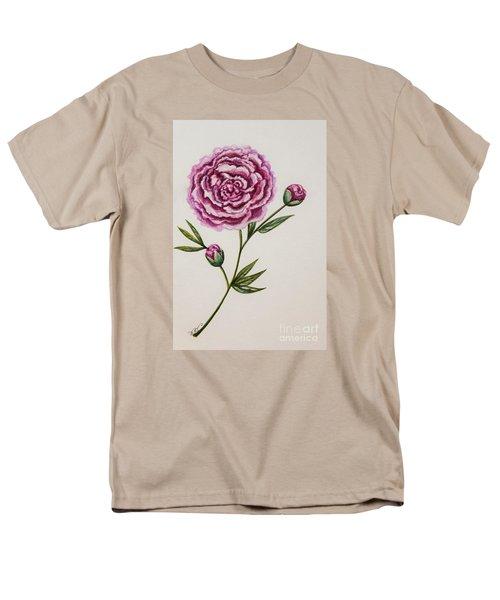 Peony Botanical Men's T-Shirt  (Regular Fit) by Elizabeth Robinette Tyndall