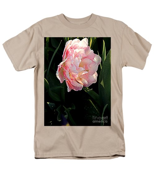 Men's T-Shirt  (Regular Fit) featuring the photograph Peony Tulip by Nancy Kane Chapman